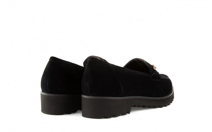 Mokasyny bayla-018 1663-3 black kid suede, czarny, skóra naturalna - bayla - nasze marki 3