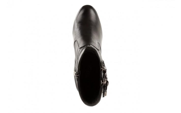 Botki bayla-106 4212001 black, czarny, skóra naturalna - biker - botki - buty damskie - kobieta 4