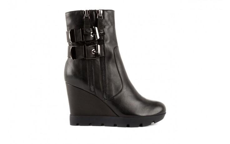 Botki bayla-106 4212001 black, czarny, skóra naturalna - biker - botki - buty damskie - kobieta