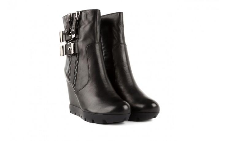 Botki bayla-106 4212001 black, czarny, skóra naturalna - biker - botki - buty damskie - kobieta 1