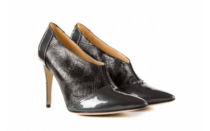 Szpilki bayla-622 34240 antracyt-szary, skóra naturalna lakierowana - na szpilce - botki - buty damskie - kobieta 1