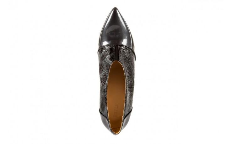 Szpilki bayla-622 34240 antracyt-szary, skóra naturalna lakierowana - na szpilce - botki - buty damskie - kobieta 5
