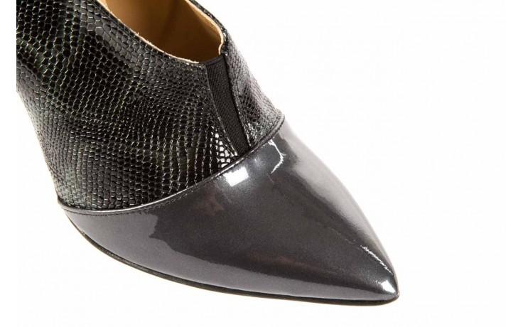 Szpilki bayla-622 34240 antracyt-szary, skóra naturalna lakierowana - na szpilce - botki - buty damskie - kobieta 4