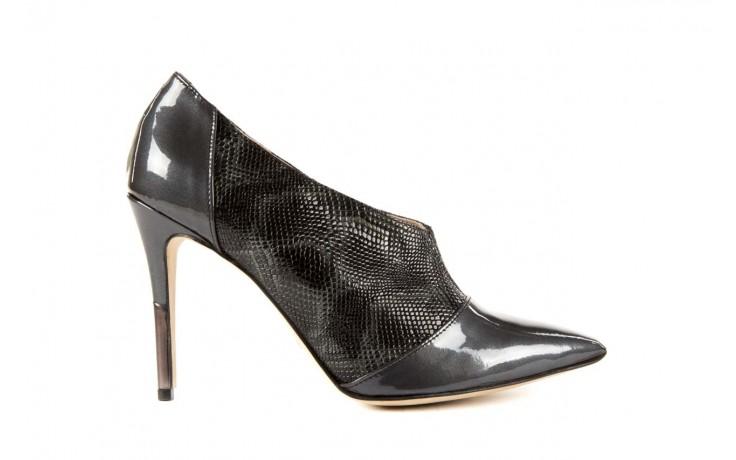 Szpilki bayla-622 34240 antracyt-szary, skóra naturalna lakierowana - na szpilce - botki - buty damskie - kobieta