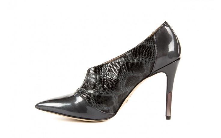 Szpilki bayla-622 34240 antracyt-szary, skóra naturalna lakierowana - na szpilce - botki - buty damskie - kobieta 2