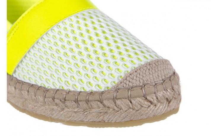 Espadryle bayla-115 104130 amarillo, żółty/ biały, materiał  - espadryle - dla niej  - sale 6