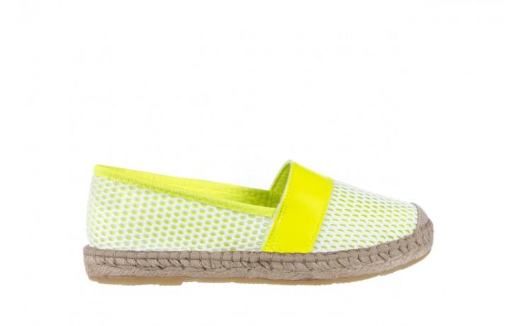 Espadryle bayla-115 104130 amarillo, żółty/ biały, materiał  - espadryle - dla niej  - sale