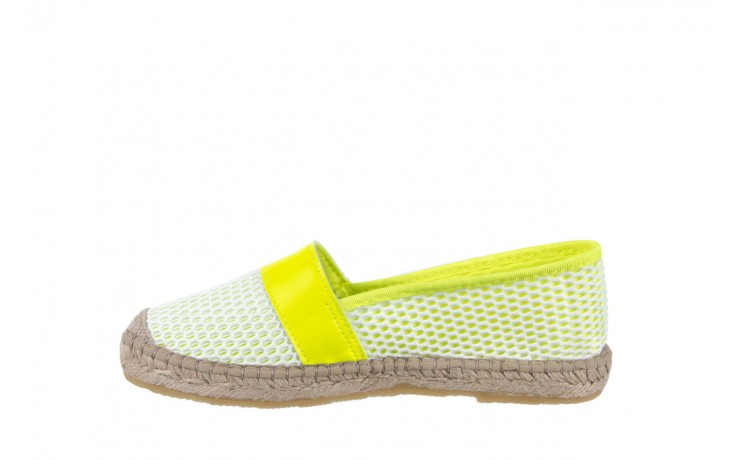 Espadryle bayla-115 104130 amarillo, żółty/ biały, materiał  - espadryle - dla niej  - sale 2