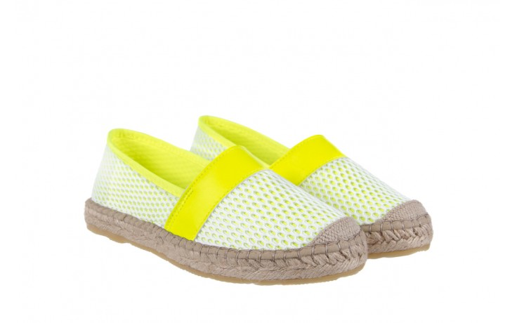 Espadryle bayla-115 104130 amarillo, żółty/ biały, materiał  - espadryle - dla niej  - sale 1
