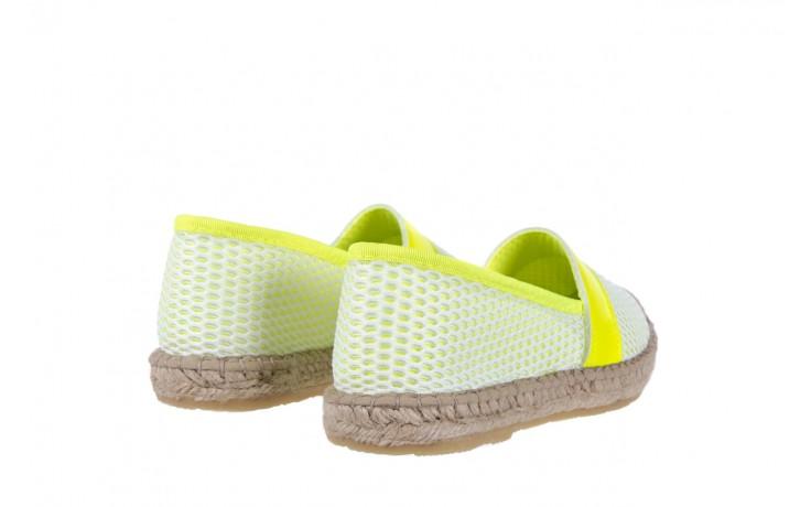 Espadryle bayla-115 104130 amarillo, żółty/ biały, materiał  - espadryle - dla niej  - sale 3