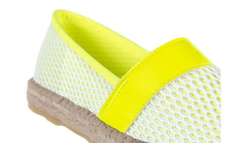 Espadryle bayla-115 104130 amarillo, żółty/ biały, materiał  - espadryle - dla niej  - sale 5