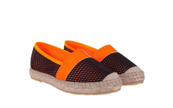 Espadryle bayla-115 104130 naranja, czarny/ pomarańczowy, materiał  - espadryle - dla niej  - sale 1