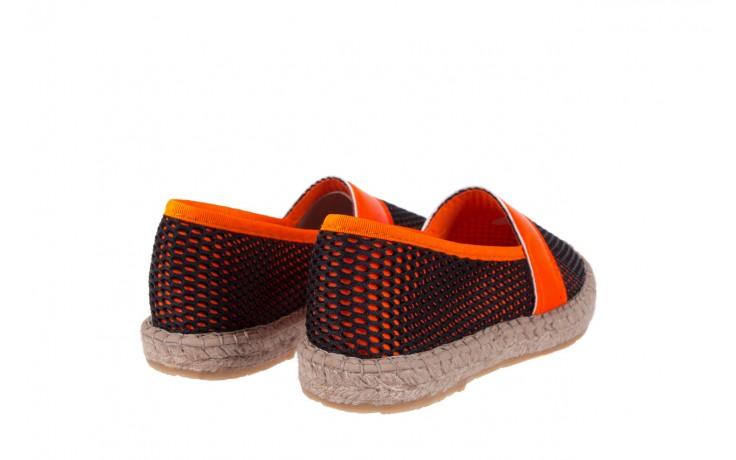 Espadryle bayla-115 104130 naranja, czarny/ pomarańczowy, materiał  - espadryle - dla niej  - sale 3