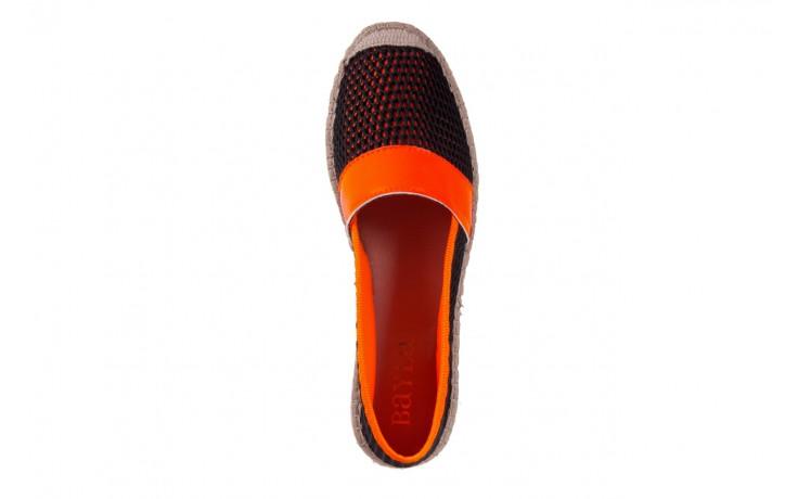 Espadryle bayla-115 104130 naranja, czarny/ pomarańczowy, materiał  - espadryle - dla niej  - sale 4