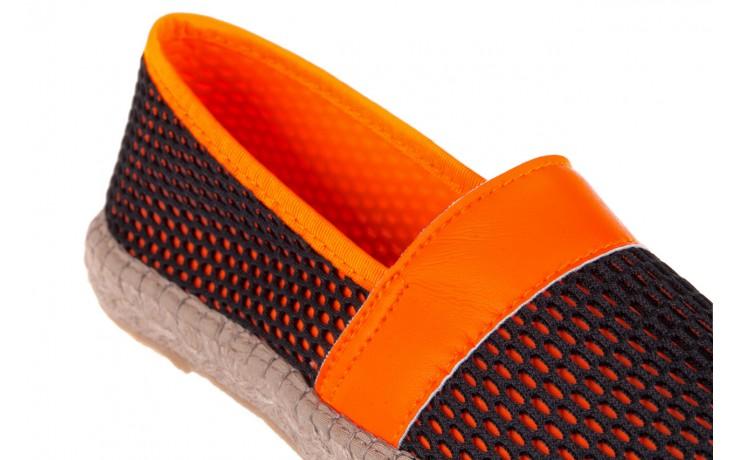 Espadryle bayla-115 104130 naranja, czarny/ pomarańczowy, materiał  - espadryle - dla niej  - sale 5