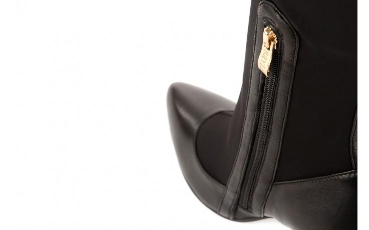 Kozaki bayla-106 4222008 czarne, skóra naturalna - z elastyczną cholewką / stretch - kozaki - buty damskie - kobieta 4