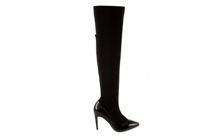 Kozaki bayla-106 4222008 czarne, skóra naturalna - z elastyczną cholewką / stretch - kozaki - buty damskie - kobieta