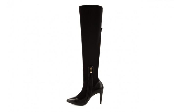Kozaki bayla-106 4222008 czarne, skóra naturalna - z elastyczną cholewką / stretch - kozaki - buty damskie - kobieta 2
