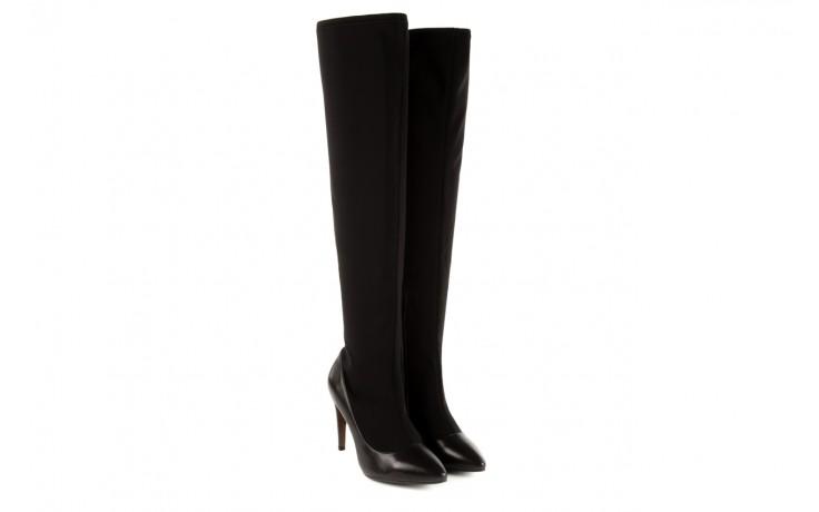 Kozaki bayla-106 4222008 czarne, skóra naturalna - z elastyczną cholewką / stretch - kozaki - buty damskie - kobieta 1