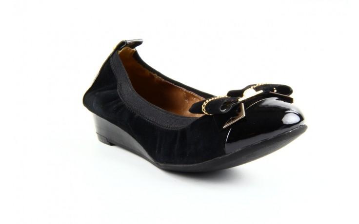 Baleriny bayla 1070-115 black black, czarny, skóra naturalna  - bayla - nasze marki 1