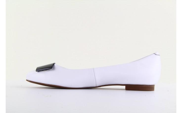 Baleriny bayla 1072-149 white, biały, skóra naturalna - bayla - nasze marki 2