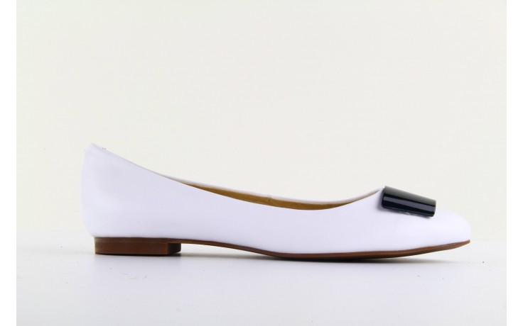 Baleriny bayla 1072-149 white, biały, skóra naturalna - bayla - nasze marki 4