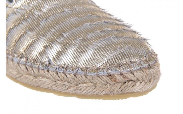 Espadryle bayla-115 107730 oro, złoty, materiał - espadryle - dla niej  - sale 5