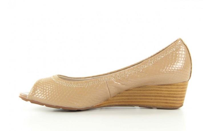 Czółenka bayla 1252-11d powder, beż, skóra naturalna lakierowana - na koturnie - czółenka - buty damskie - kobieta 1