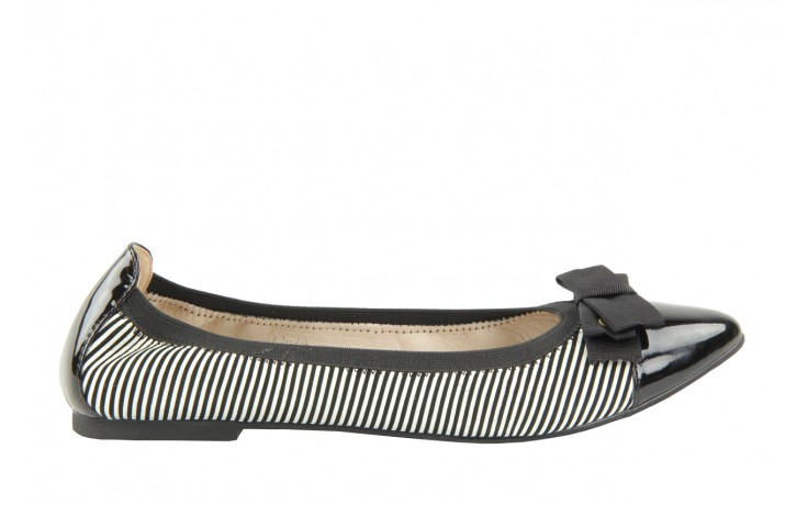 Bayla 1329-20 black white stripe leather-black patent - bayla - nasze marki