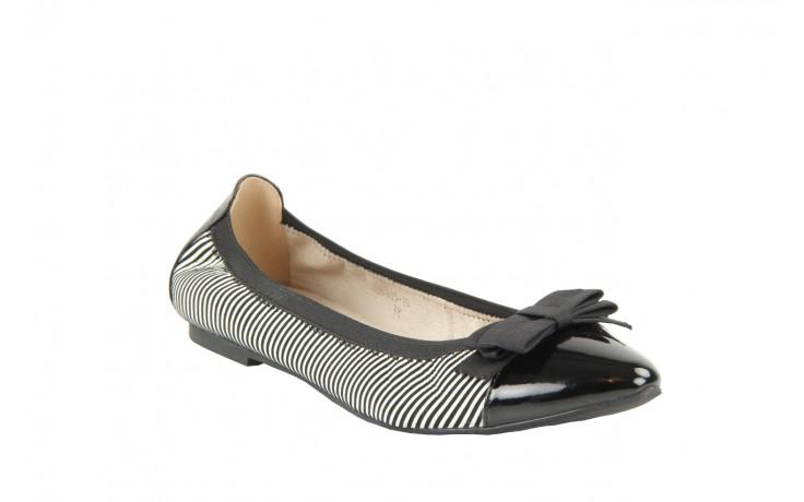 Bayla 1329-20 black white stripe leather-black patent - bayla - nasze marki 4