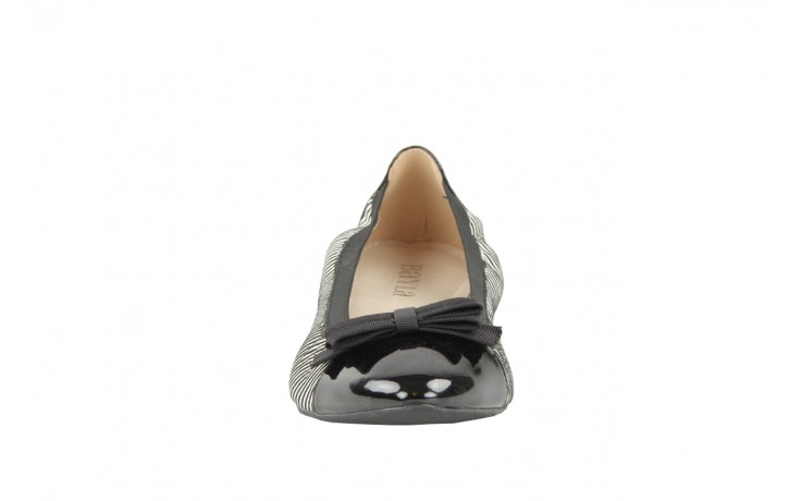 Bayla 1329-20 black white stripe leather-black patent - bayla - nasze marki 3