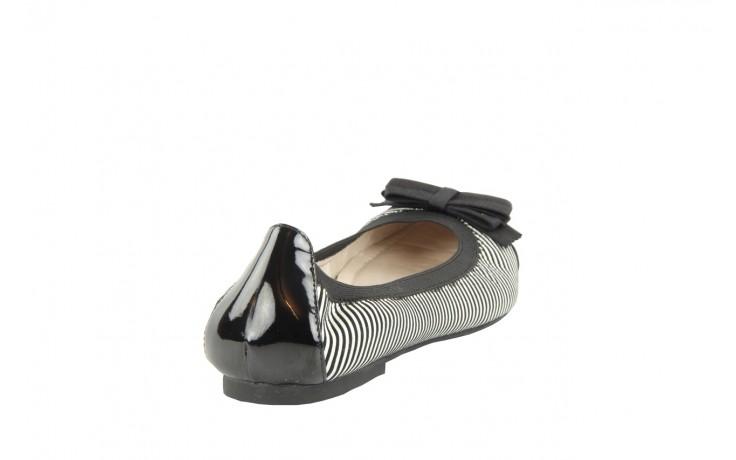 Bayla 1329-20 black white stripe leather-black patent - bayla - nasze marki 5