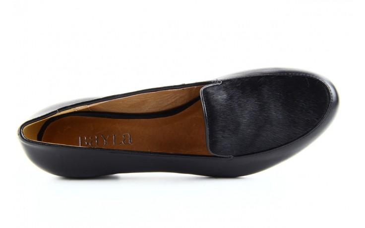 Półbuty bayla 1358-11 black black black, czarny, skóra naturalna - bayla - nasze marki 4