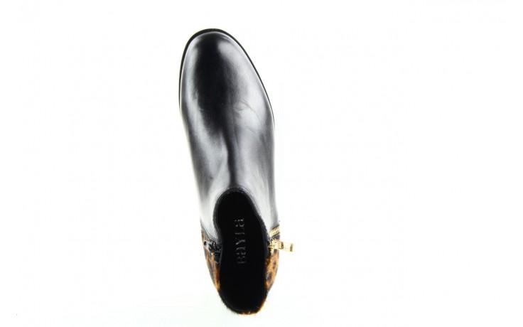 Botki bayla 1555h-5 black brown, czarny, skóra naturalna  - bayla - nasze marki 1