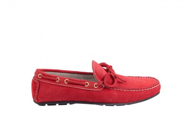 Mokasyny bayla-133 6102 camoscio rosso, czerwony, skóra naturalna  - mokasyny i espadryle - buty męskie - mężczyzna