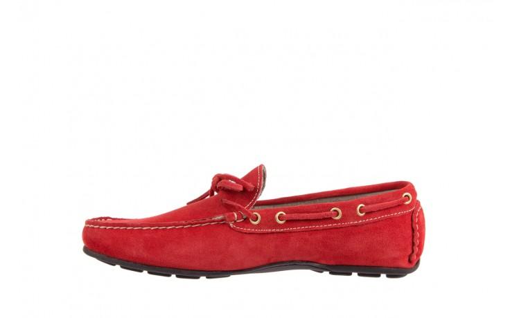 Mokasyny bayla-133 6102 camoscio rosso, czerwony, skóra naturalna  - bayla - nasze marki 2
