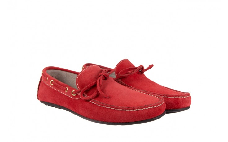Mokasyny bayla-133 6102 camoscio rosso, czerwony, skóra naturalna  - mokasyny i espadryle - buty męskie - mężczyzna 1
