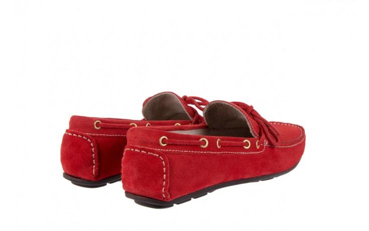 Mokasyny bayla-133 6102 camoscio rosso, czerwony, skóra naturalna  - mokasyny i espadryle - buty męskie - mężczyzna 3