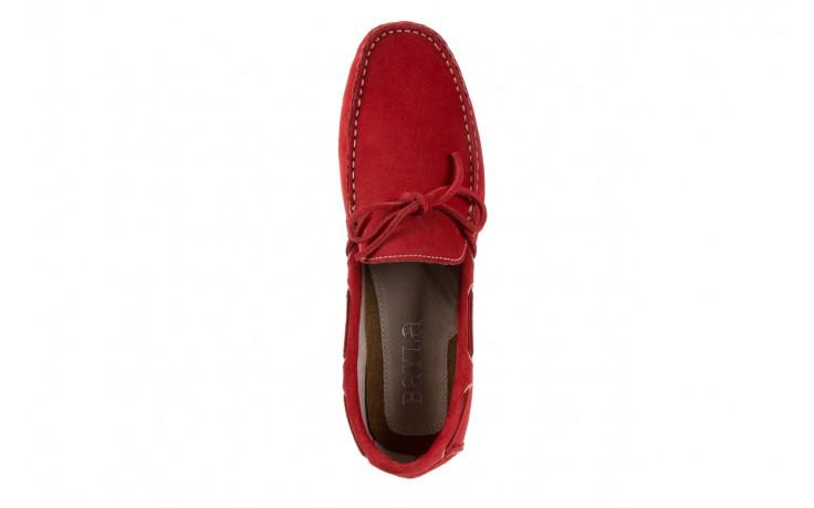 Mokasyny bayla-133 6102 camoscio rosso, czerwony, skóra naturalna  - mokasyny i espadryle - buty męskie - mężczyzna 4
