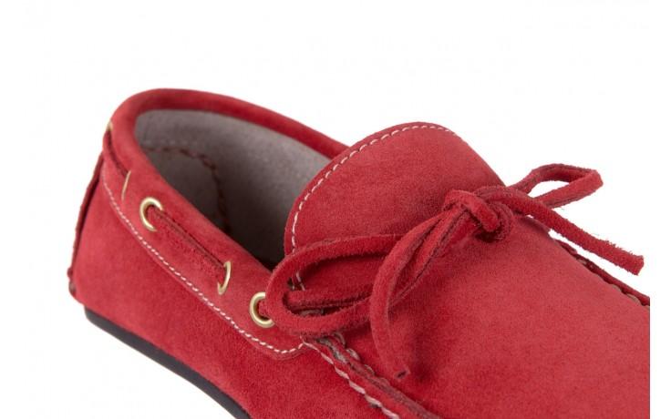 Mokasyny bayla-133 6102 camoscio rosso, czerwony, skóra naturalna  - bayla - nasze marki 5
