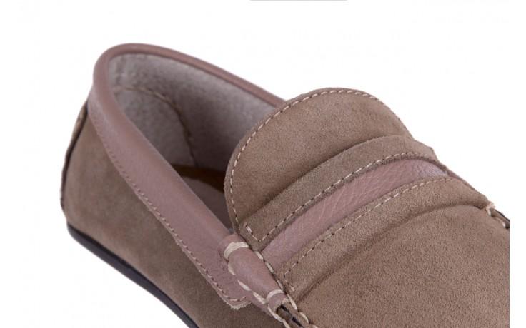 Mokasyny bayla-133 6103 camoscio tortora, beż, skóra naturalna  - mokasyny i espadryle - buty męskie - mężczyzna 5