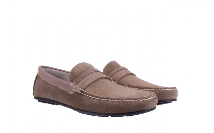Mokasyny bayla-133 6103 camoscio tortora, beż, skóra naturalna  - mokasyny i espadryle - buty męskie - mężczyzna 1