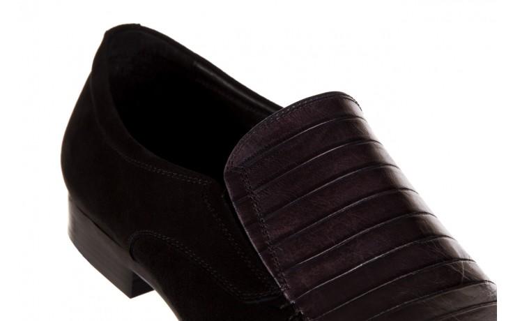 Mokasyny brooman 1352-46ea black, czarny, skóra naturalna  - mokasyny i espadryle - buty męskie - mężczyzna 5