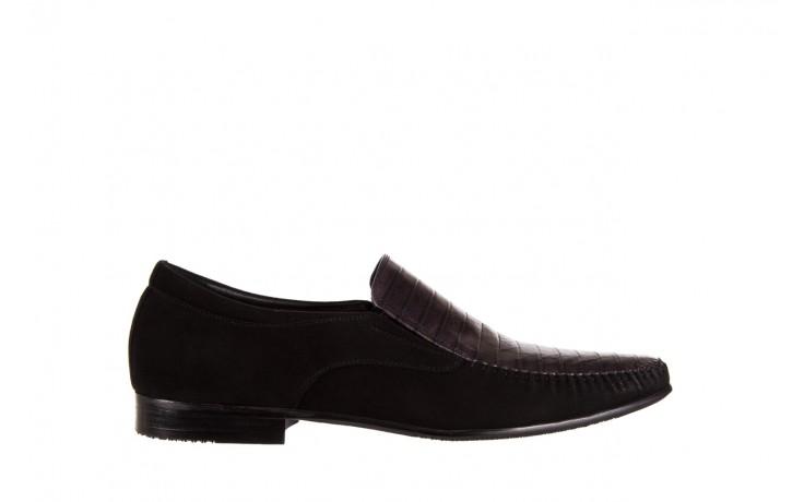 Mokasyny brooman 1352-46ea black, czarny, skóra naturalna  - mokasyny i espadryle - buty męskie - mężczyzna