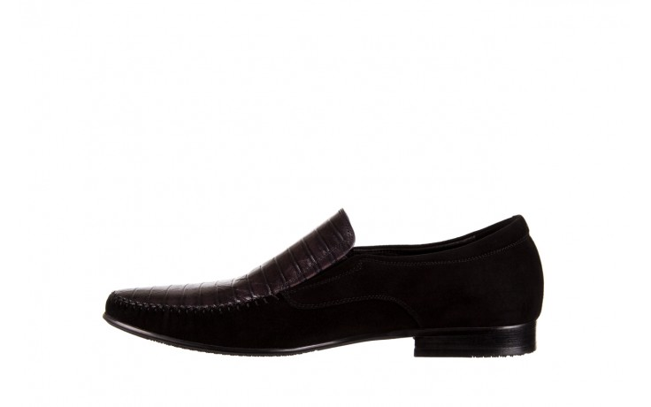 Mokasyny brooman 1352-46ea black, czarny, skóra naturalna  - mokasyny i espadryle - buty męskie - mężczyzna 2