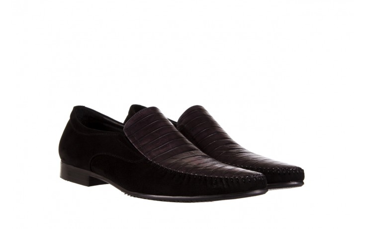 Mokasyny brooman 1352-46ea black, czarny, skóra naturalna  - mokasyny i espadryle - buty męskie - mężczyzna 1