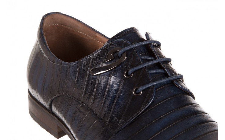 Półbuty brooman 1356-35h593 blue, granat, skóra naturalna  - brooman - nasze marki 5