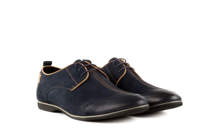 Półbuty brooman 1782-58h99 blue, granat, skóra naturalna - rozmiar 45 - mężczyzna - mega okazje - ostatnie rozmiary 1