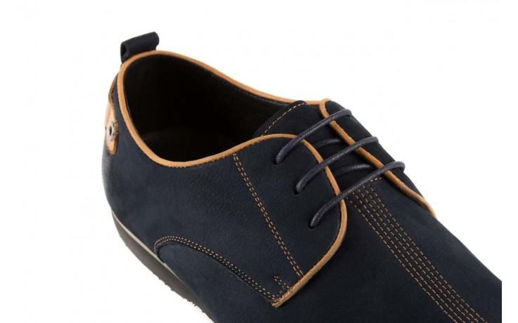 Półbuty brooman 1782-58h99 blue, granat, skóra naturalna - rozmiar 45 - mężczyzna - mega okazje - ostatnie rozmiary 5