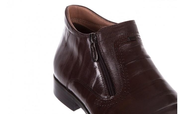 Trzewiki brooman 7721b-702g132-r coffee 18, brąz, skóra naturalna  - bayla exclusive - trendy - mężczyzna 5